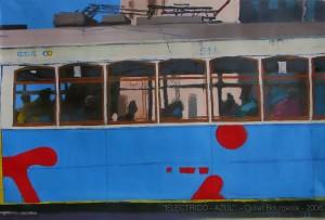 """"""" Electrico-Azul"""" (Tram.bleu) 90X140cm - 2008- Coll.Priv."""